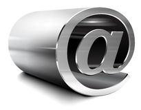 Silbernes E-Mail-Zeichen Lizenzfreie Stockfotos