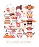Vektorillustration för abstrakt maskin Arkivbild