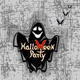 Vektorillustration för allhelgonaafton Spöke på en grungebakgrund Arkivfoton