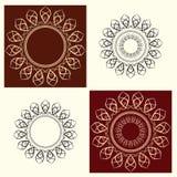 Vektorillustration för blom- prydnad Arkivbild