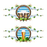 Vektorillustration för en ölfestival Arkivfoton