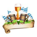 Vektorillustration för en ölfestival Arkivbild