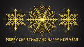 Vektorillustration för jul och för nytt år Arkivbild