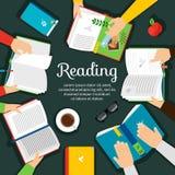 Vektorillustration för läs- klubba Royaltyfri Foto