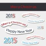 2015 vektorillustration för lyckligt nytt år Royaltyfria Bilder