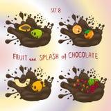 Vektorillustration för mogen frukt royaltyfri illustrationer
