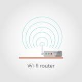 vektorillustration för router Wi-fi Stock Illustrationer