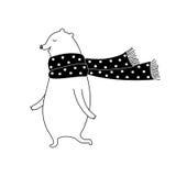 Vektorillustration för vit björn Arkivfoton