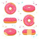 Vektorillustration für glasig-glänzenden süßen Donut Lizenzfreie Stockfotos