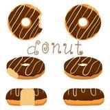 Vektorillustration für glasig-glänzenden süßen Donut Lizenzfreie Stockbilder