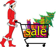 Vektorillustration für Verkauf - Weihnachtselfe Lizenzfreies Stockfoto
