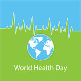 Vektorillustration für Weltgesundheits-Tag Lizenzfreies Stockbild