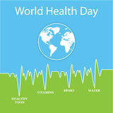 Vektorillustration für Weltgesundheits-Tag Stockfoto