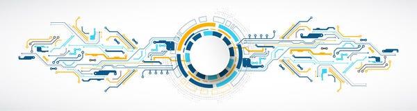 Vektorillustration, högteknologisk digital teknologi och teknik