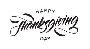 Vektorillustration: Handskriven typbokstäversammansättning av den lyckliga tacksägelsedagen royaltyfri illustrationer