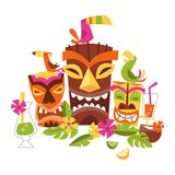 Vektorillustration hawaiischer luau Partei stock abbildung