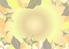 Vektorillustration - Herbstlaubhintergrund lizenzfreie abbildung