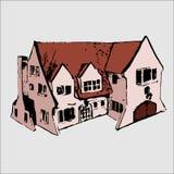 Vektorillustration: Immobilien und Haus lizenzfreie abbildung