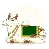 Vektorillustration indischen heiligen cows2 Lizenzfreie Stockbilder