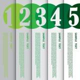 Vektorillustration, Infographic beståndsdel för design och idérikt Arkivbilder