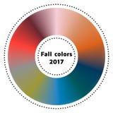 Vektorillustration, infographics, moderiktiga färger av de fal 2017na Royaltyfria Bilder