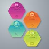 Vektorillustration infographics vier Lizenzfreies Stockbild