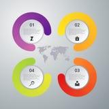 Vektorillustration infographics vier Wahlen Stockbilder