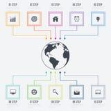 Vektorillustration infographics 10 Wahlen Stockfotos
