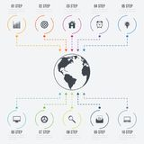 Vektorillustration infographics 10 Wahlen Stockbilder