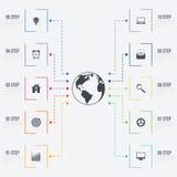 Vektorillustration infographics 10 Wahlen Lizenzfreie Stockbilder