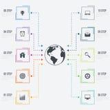 Vektorillustration infographics 10 Wahlen Lizenzfreies Stockbild