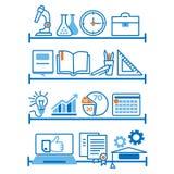 Vektorillustration, information-diagram, begrepp om utbildning stock illustrationer