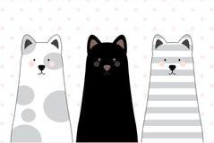 Vektorillustration - katter stock illustrationer