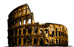 Vektorillustration Kolosseum Italien-Anziehungskraftkunst-Gebäudegeschichte vektor abbildung