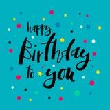 Vektorillustration - lycklig födelsedag till dig royaltyfri illustrationer