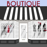 Vektorillustration med boutique Arkivfoton