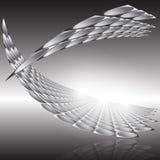 Vektorillustration med den framtida affärsteknologistrukturen Arkivfoton