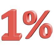1% vektorillustration med effekt 3D Royaltyfria Bilder