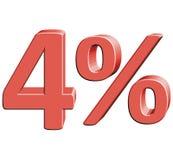 4% vektorillustration med effekt 3D Arkivbild