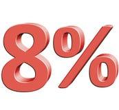 8% vektorillustration med effekt 3D Arkivfoto
