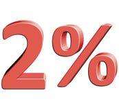 2% vektorillustration med effekt 3D Arkivbild
