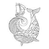 Vektorillustration med en valbild som göras i engjord stil Royaltyfri Illustrationer