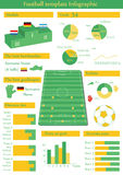 Vektorillustration med infographic fotboll vektor illustrationer