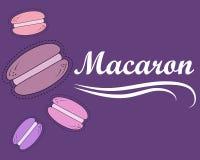 Vektorillustration med macarons stock illustrationer