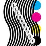 Vektorillustration med typografiord- och cmykfärger Royaltyfri Foto