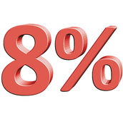 8% Vektorillustration mit Effekt 3D stock abbildung
