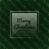 Vektorillustration mit einem Weihnachtsmotiv Weihnachtsmuster für Packpapier auf einem dunkelgrünen Hintergrund Stockbilder