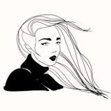 Vektorillustration mit hübsche Frauen vektor abbildung