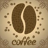 Vektorillustration mit Kaffeebohnen Lizenzfreies Stockfoto
