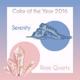 Vektorillustration mit pantone Farben Stockbild